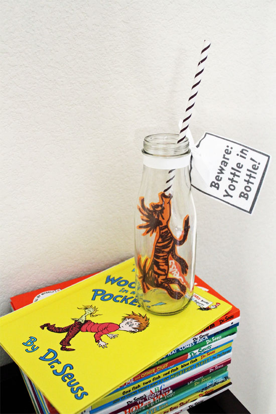 DIY Seuss Yottle in Bottle