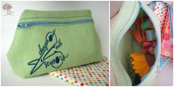Felt zipper pouch - the sewing loft