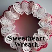 Heart Doily Wreath