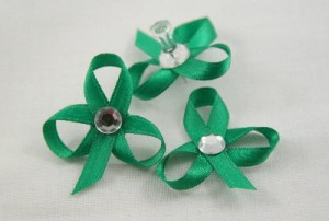 child made tutorials - ribbon shamrock