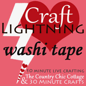 craft lightning valentines washi tape