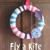 fly a kite spring wreath - the country chic cottage