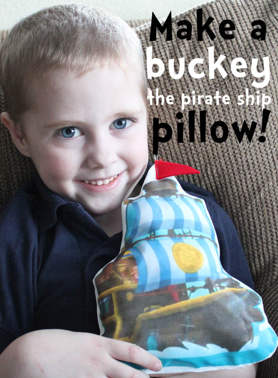 make a buckey the pirate ship pillow