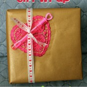 mod podge valentine's gift wrap