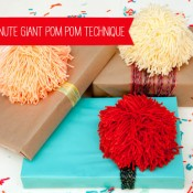 sixty second giant pom pom from handmade charlotte