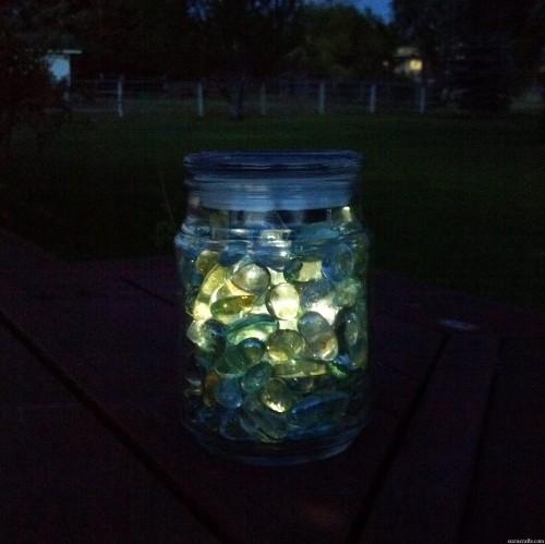 solar light jar - suzis crafts