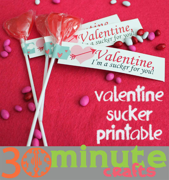Cute Toddler Valentines Day Quotes: Valentine's Day Suckers