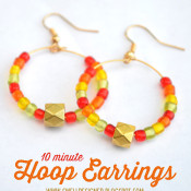 10-minute-hoop-earrings - swelldesigner