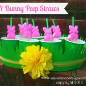 DIY-Bunny-Peep-Straws - uncommon designs