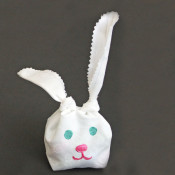 Fabric Easter Bunny Bag in 15 minutes