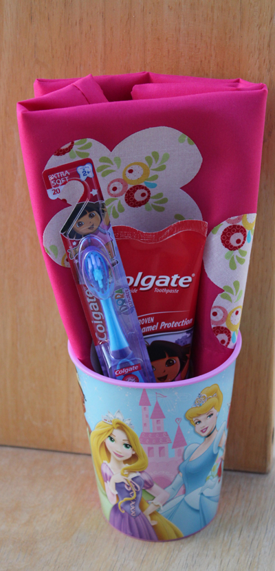 colgate care package cup toothpaste pillowcase