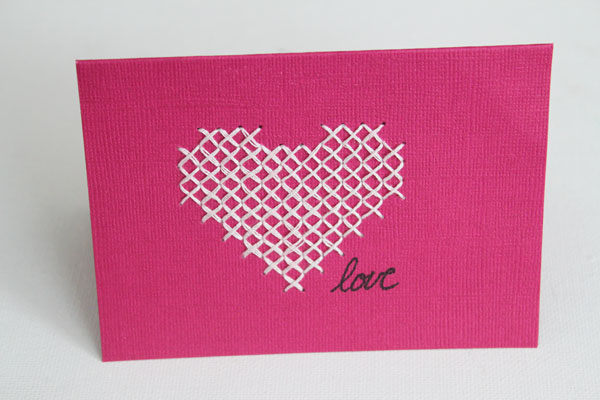core'dinations cross stitch card