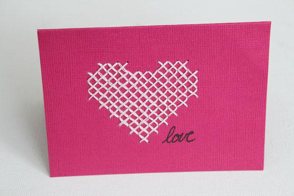 core'dinations cross stitch card