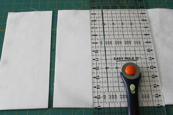 cut fabric strip