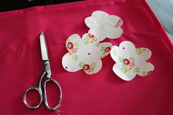 cut flowers for pillowcase