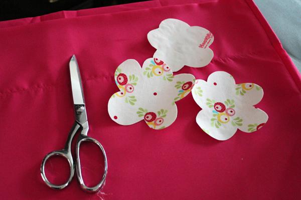 cut flowers for pillowcase