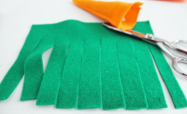 cut fringe into large rectangle
