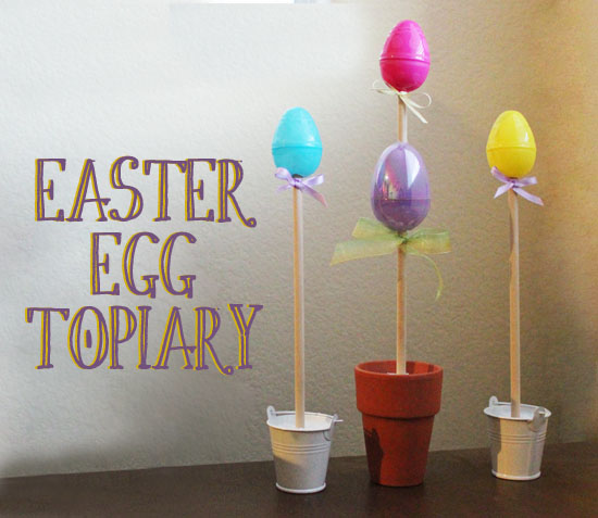 easter egg topiary via @30minutecrafts