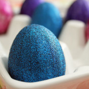 less mess making glitter eggs when you use Mod Podge this way