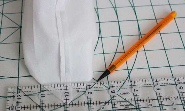 mark corners for stitching