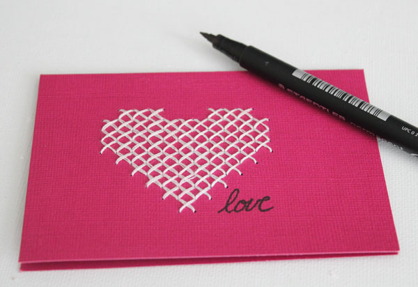 write on card