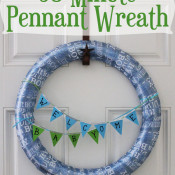 30 Minute Pennant Wreath
