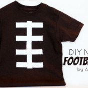 No sew football t-shirt from A Night Owl Blog