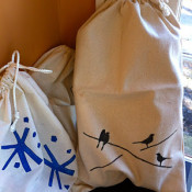 Fabric gift Bag - decorella