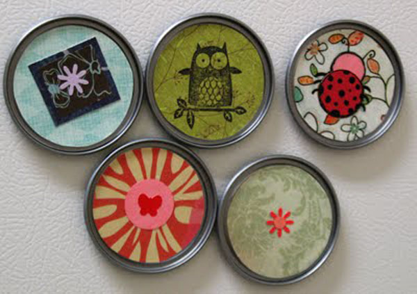 Juice Can Lid Magnets - Grow Creative