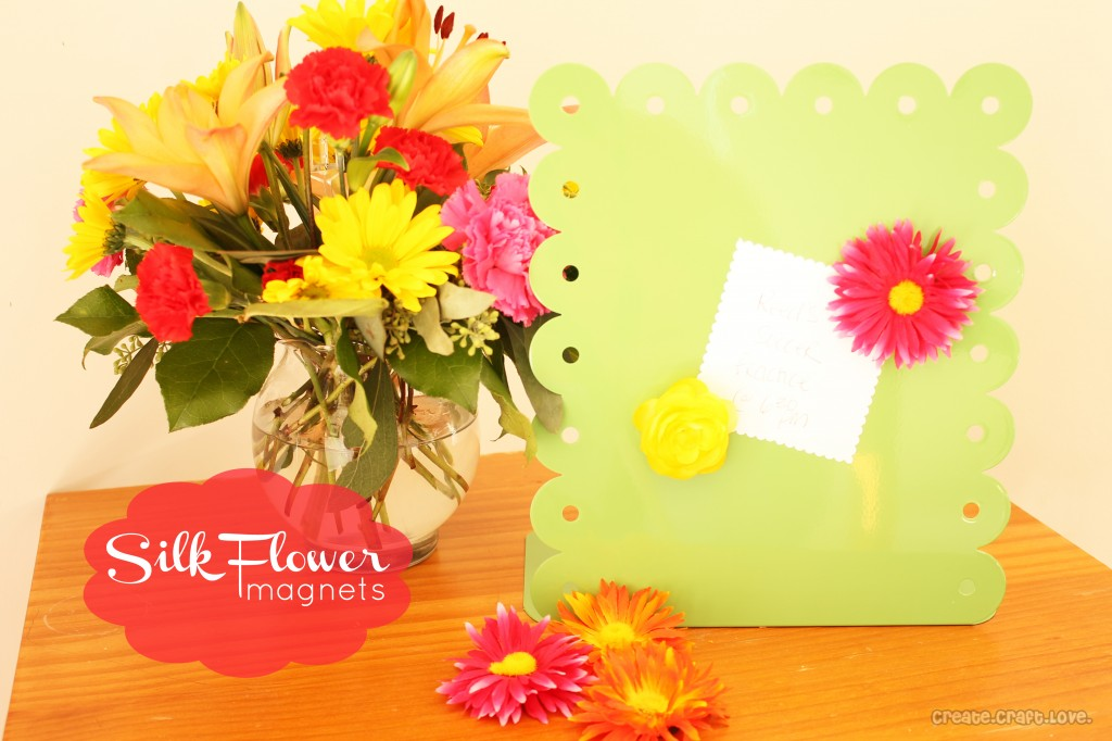 Easy silk flower magnets 30 minute crafts silk flower magnets create craft love mightylinksfo