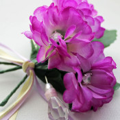 crystal corsage brooch pin