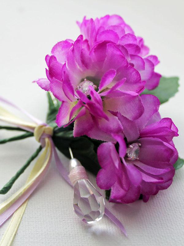 crystal corsage brooch pin