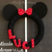 minnie mouse disney wreath - mine for the making