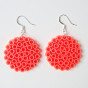 perler bead earrings - maker mama