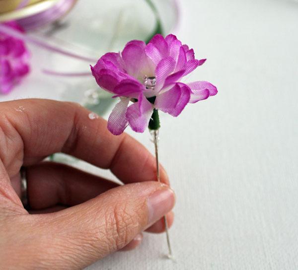 put crystal on stem