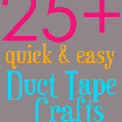 quick and easy duct tape crafts on 30 Minute Crafts website