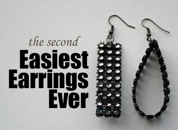 the second easiest earrings ever