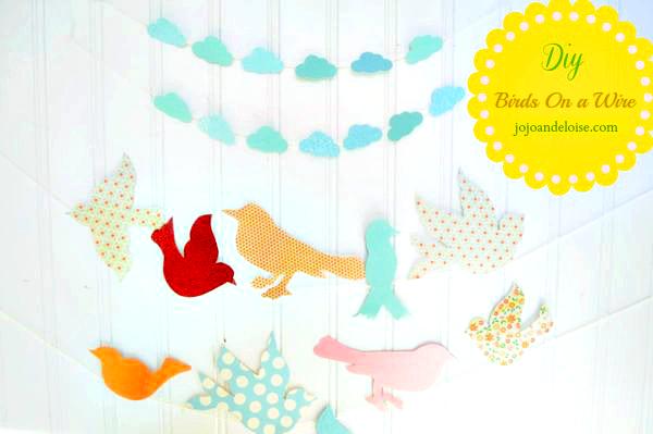 Birds on a wire - jo jo and eloise
