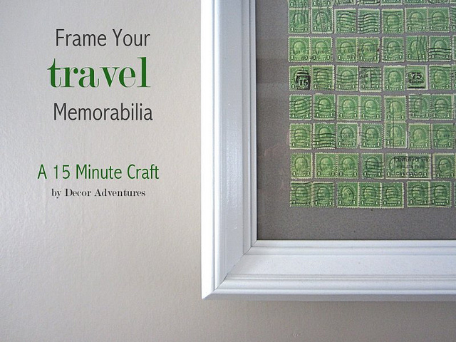 Framed Travel Memorabilia - Decor Adventures