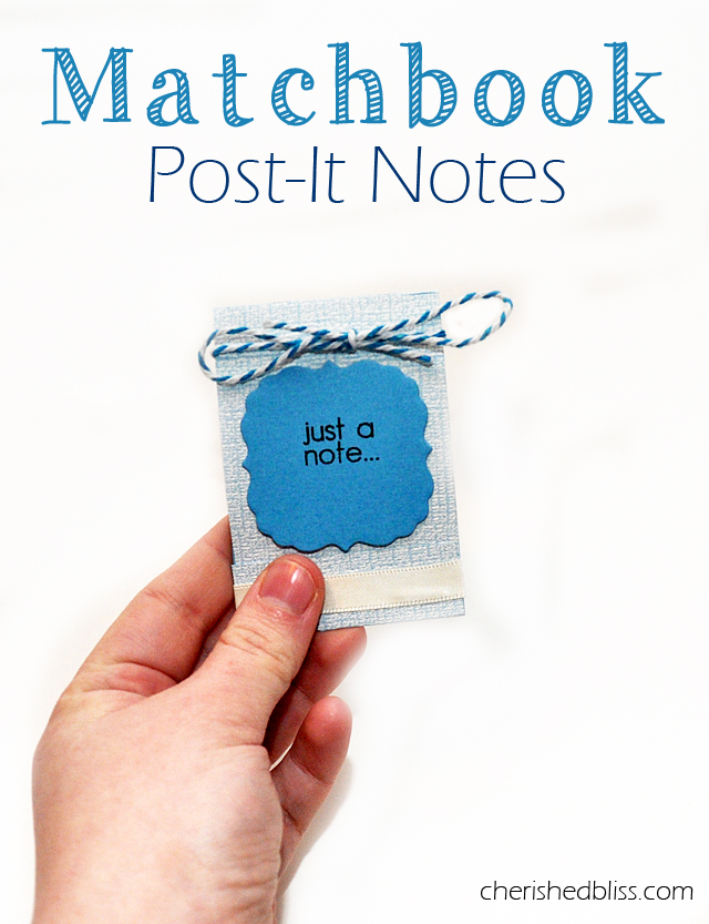Matchbook-Post-It-Notes - Cherished Bliss