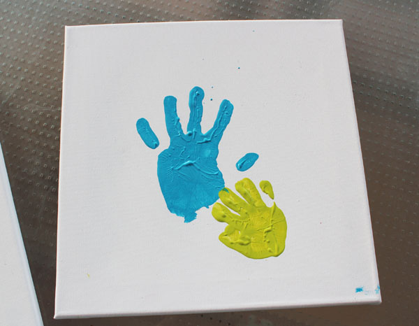 Mother's Day Handprint Canvas