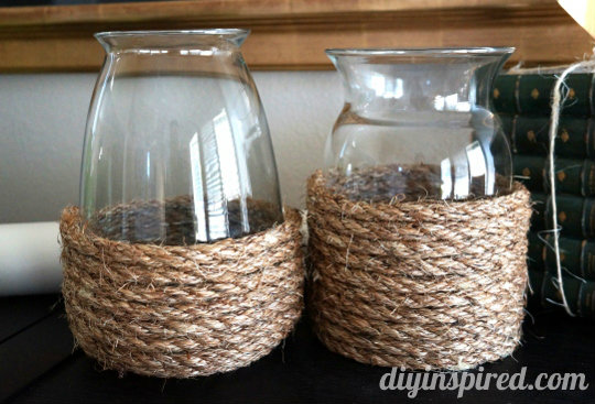 Rope Vases at DIY Inspired