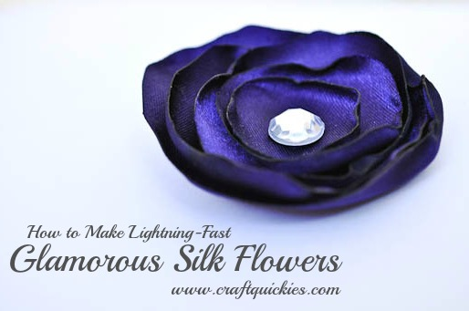 Satin Flowers - Craft Quickies