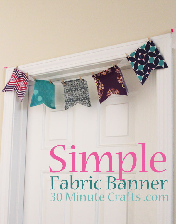Simple Fabric Banner
