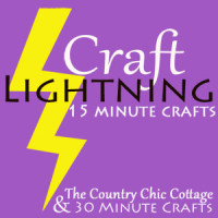 craft lightning button