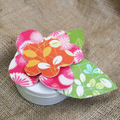 cute flower on a tin box
