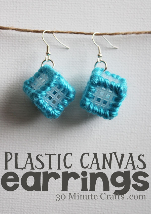 earrings made from plastic canvas