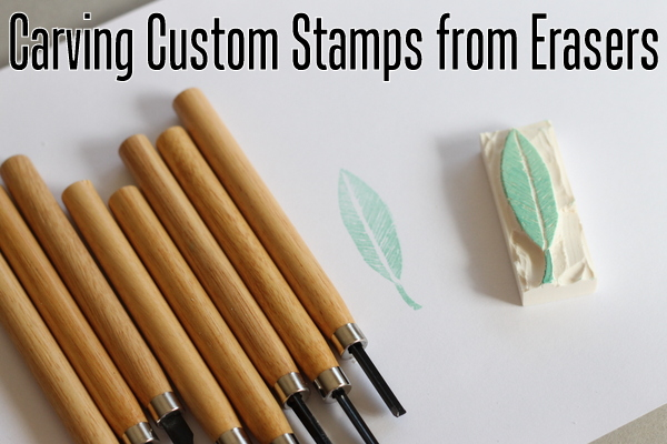 how to make stamps from erasers - the country chic cottage