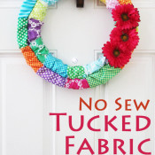 no sew tucked fabric wreath