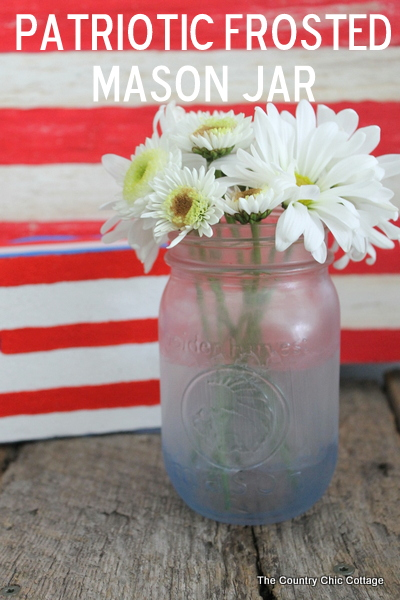 painted frosted glass mason jars - The Country Chic Cottage